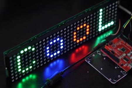 88 LED matrix control on an Arduino Mega code